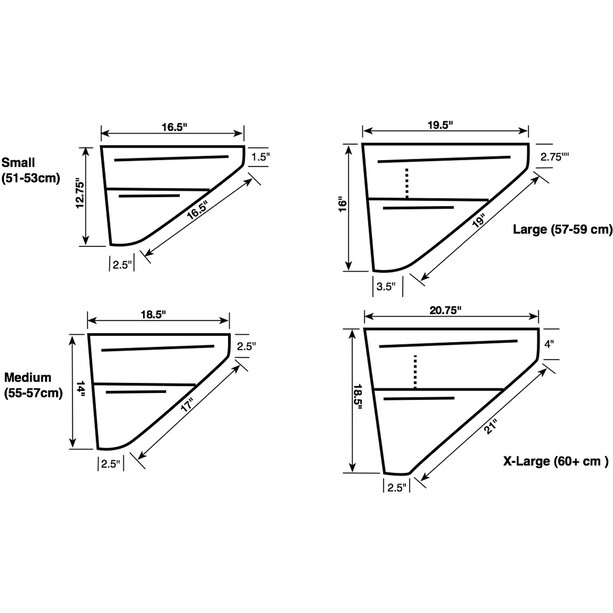 Revelate Designs Ripio Rahmentasche L schwarz