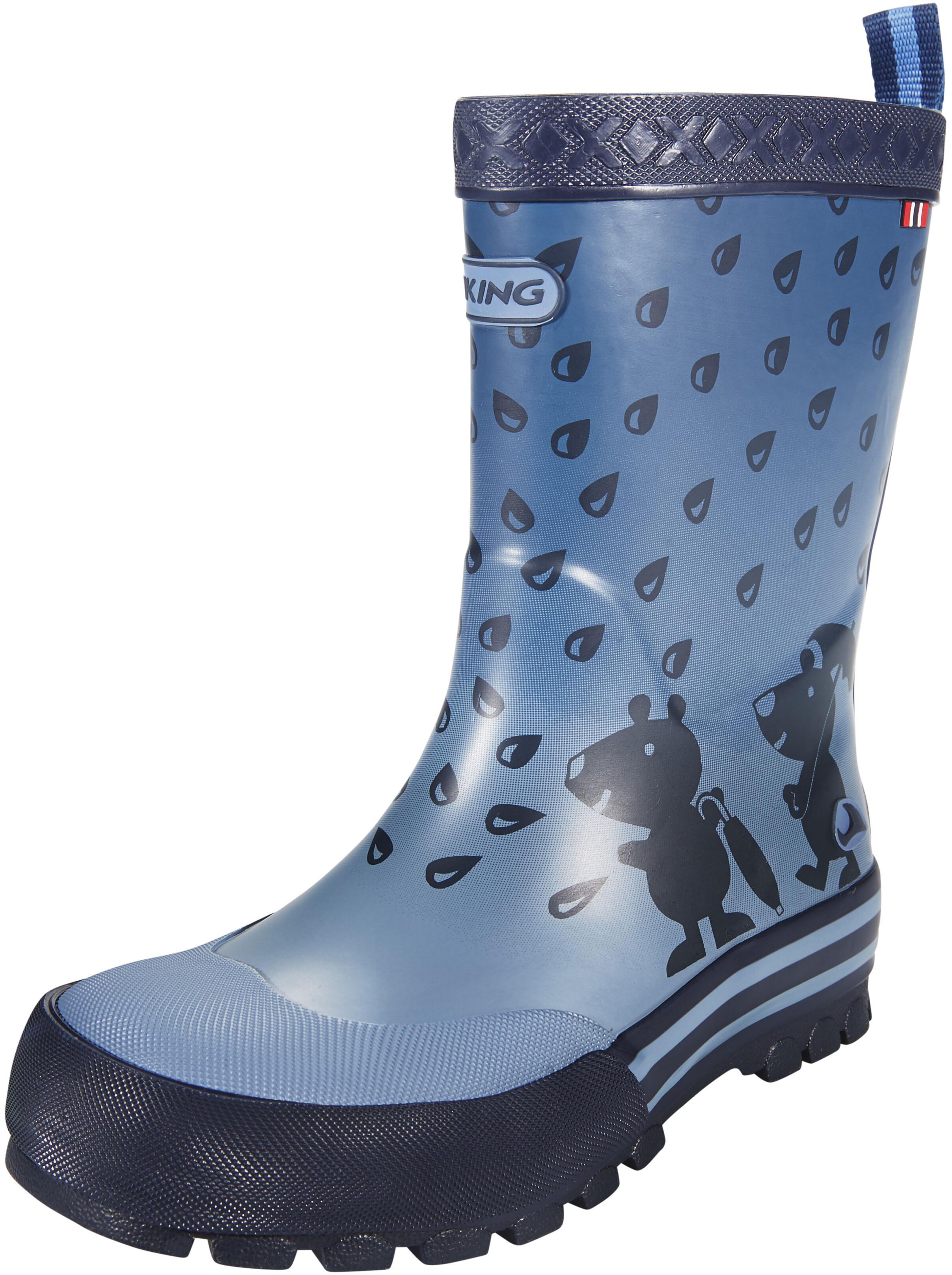 viking footwear plask bottes en caoutchouc enfant bleu sur campz. Black Bedroom Furniture Sets. Home Design Ideas