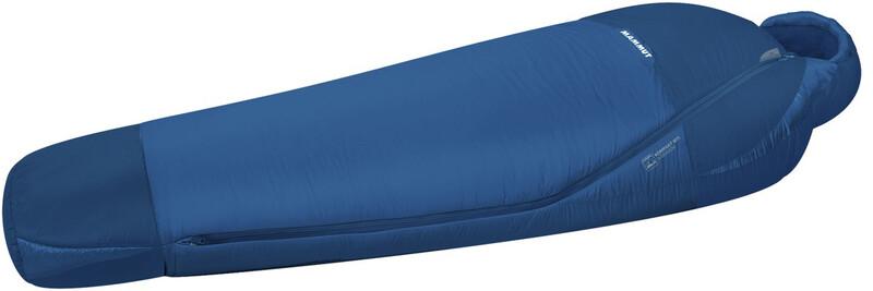 Kompakt MTI Summer Sleeping Bag 195cm dark cyan-cobalt left 2018 Schlafsäcke