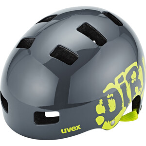 UVEX Kid 3 Helmet Barn dirtbike gray-lime dirtbike gray-lime