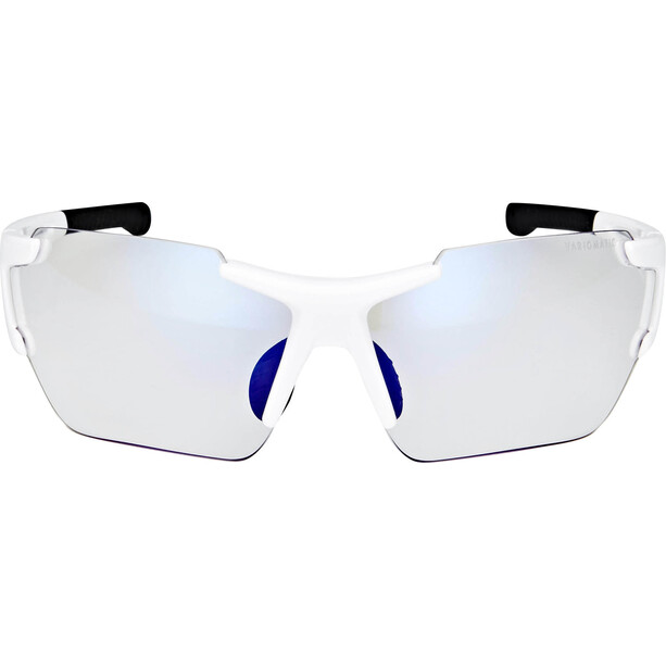 UVEX Sportstyle 803 Race Vario Brille Small white/blue