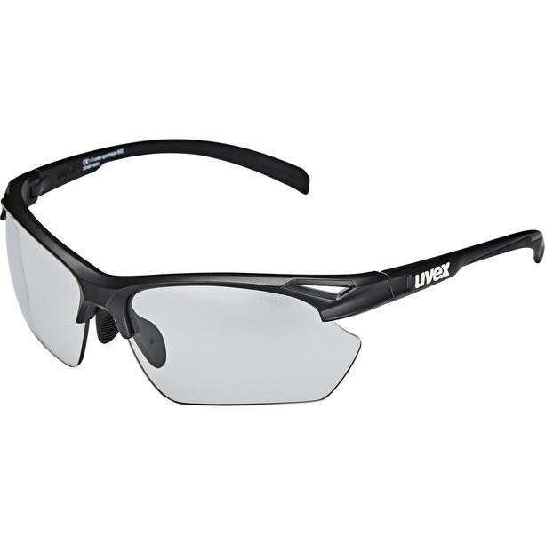UVEX Sportstyle 802 V Sportbrille Small Damen black mat/smoke