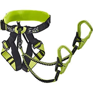 Edelrid Jester Comfort Harness and Via Ferrata Set, czarny/zielony czarny/zielony
