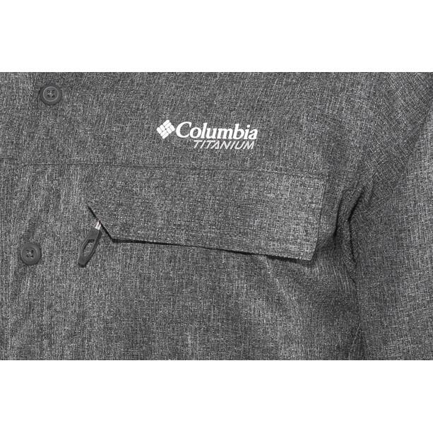 Columbia Irico Langarmhemd Herren Black Heather