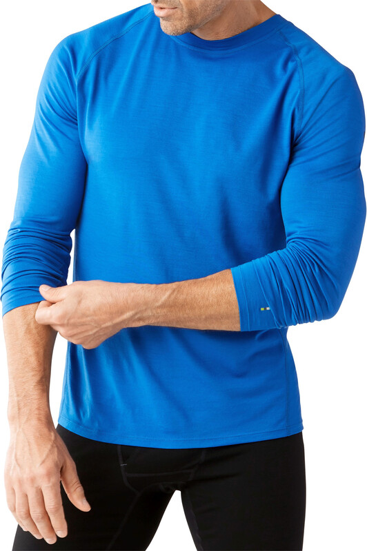 Smartwool Merino 150 Baselayer Long Sleeve Men Bright Blue L 2018 Unterhemden