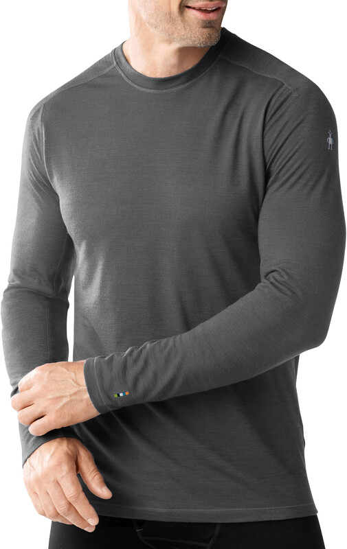 Smartwool PhD Ultra Light Long Sleeve Shirt Men Charcoal L 2018 Unterhemden