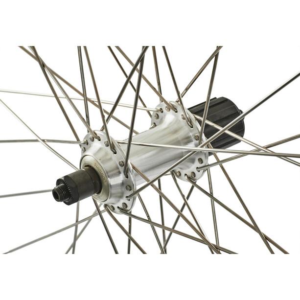 Ryde Cyber 10 H-Rad 28 x 1.75 mit Nabe RM-30, 8-10 fach silber