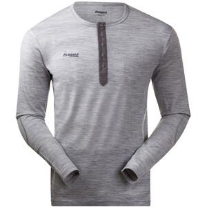 Bergans Henley Wool Shirt Herr grey mel grey mel