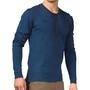 Bergans Henley Wool Shirt Herr blå