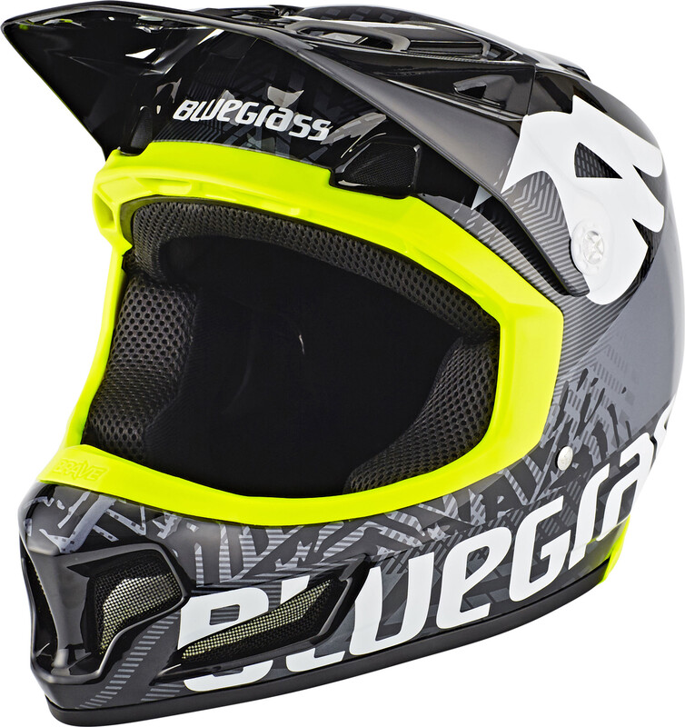 bluegrass Brave Fullface-Helmet black/yellow M | 56-58cm 2018 Fahrradhelme