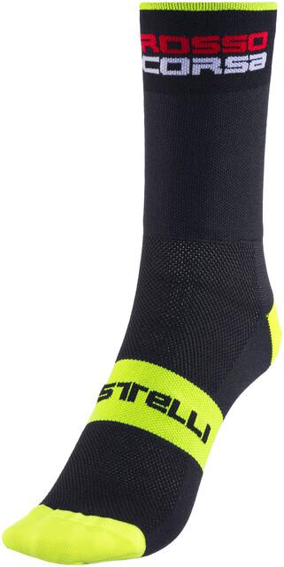 Castelli Rosso Corsa 9 cm Cuff Cycling Socks DARK STEEL BLUE One Pair