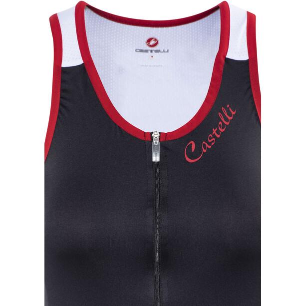 Castelli Solare Top Damen black/white/red