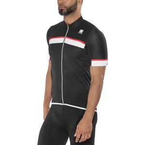 Sportful Pista Kurzarm Trikot Herren black/white-red black/white-red