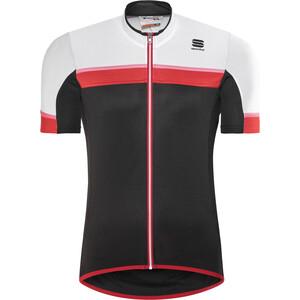 Sportful Pista Kurzarm Trikot Herren black/white/red-coral fluo black/white/red-coral fluo