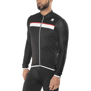 Sportful Pista Langarm Trikot Herren black/white-red black/white-red