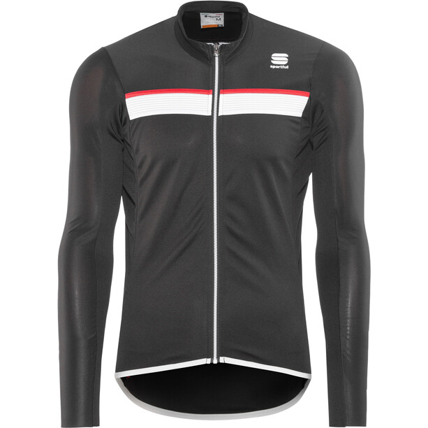 Sportful Pista Langarm Trikot Herren black/white-red