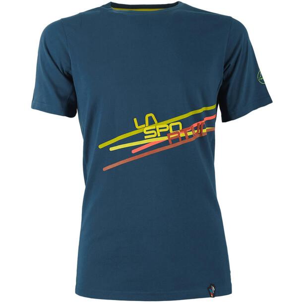 La Sportiva Stripe 2.0 T-Shirt Herren ocean/citronelle
