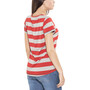 Bergans Bastøy T-Shirt Damen grey melange/pale red striped