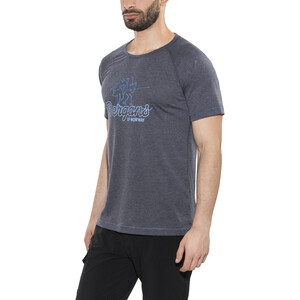 Bergans Tee Herren navy melange/light winter sky/ocean navy melange/light winter sky/ocean
