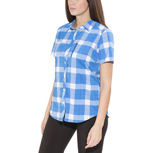 Bergans Jondal Shirt SS Damen athens blue/white check athens blue/white check
