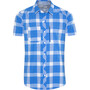 athens blue/white check