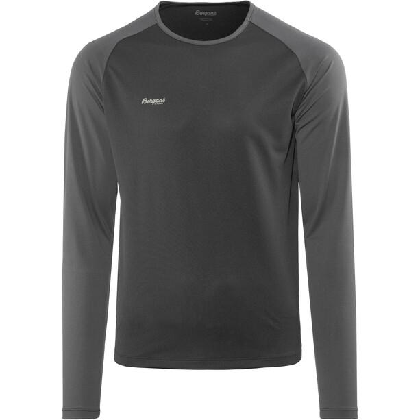 Bergans Slingsby Langarmshirt Herren black/solid charcoal