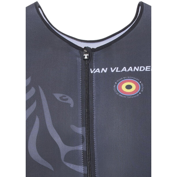 Bioracer Van Vlaanderen Trisuit Kurzarm Herren black