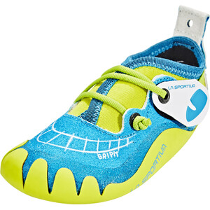 La Sportiva Gripit Kletterschuhe Kinder blue/sulphur blue/sulphur