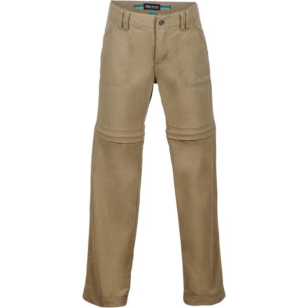 Marmot Lobo Convertible Pants Flickor desert khaki