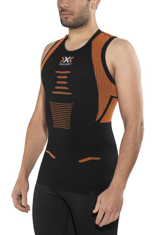 X-Bionic The Trick Running Singlet Men Black/Orange Shiny XL 2018 Kompressionsshirts