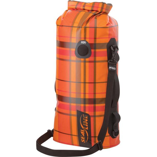 SealLine Discovery Deck Dry Bag 20l orange plaid
