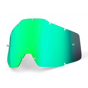 100% Verres de remplacement, green / mirror green / mirror