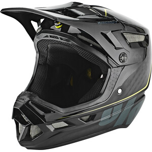 100% Aircraft DH Helm inkl. Mips raw black raw black