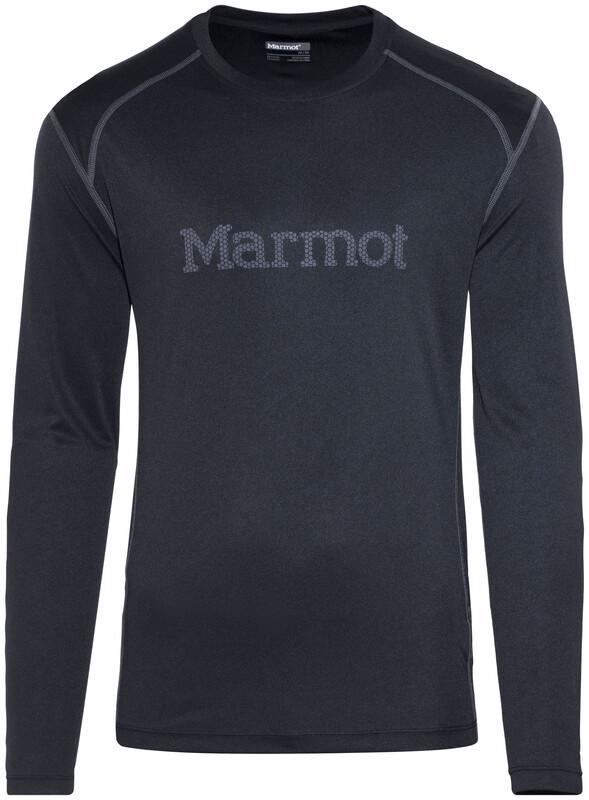 Marmot Windridge with Graphic LS Shirt Men Black/Cinder L 2018 Sportshirts, Gr.