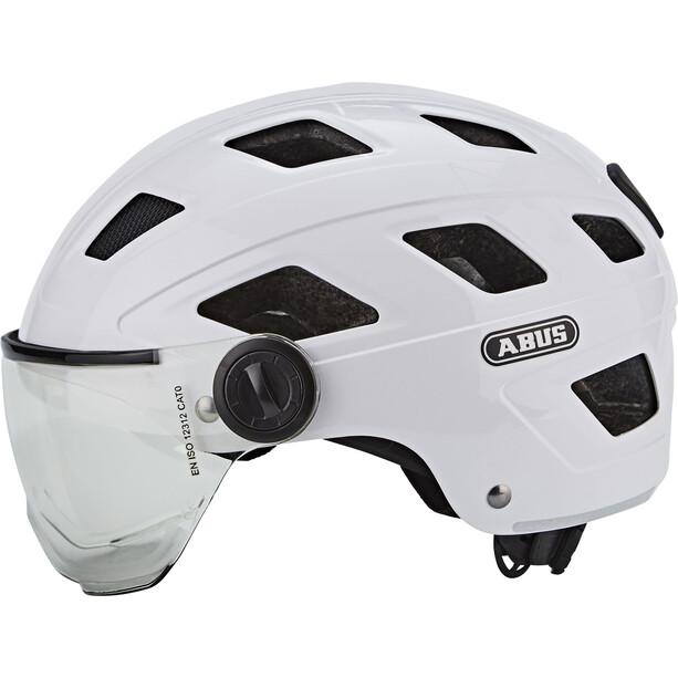 ABUS Hyban+ Helm cream white, clear visor