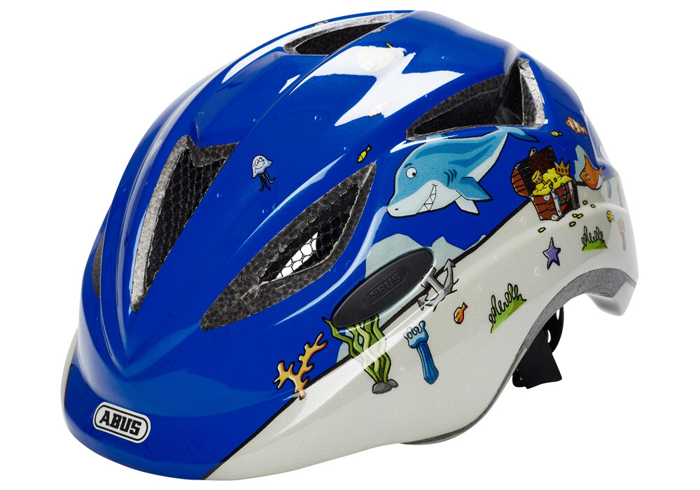 abus anuky bike helmet children blue white at. Black Bedroom Furniture Sets. Home Design Ideas
