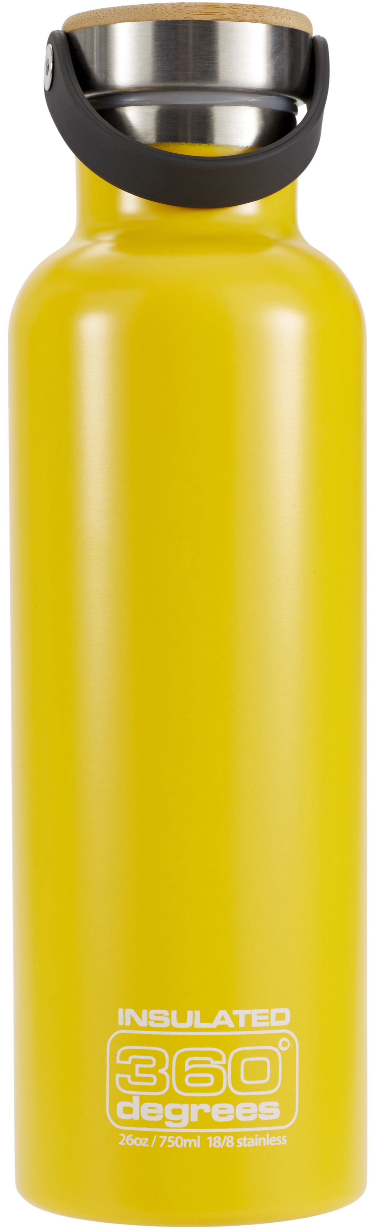 360 degrees vacuum insulated drink bottle 750ml yellow. Black Bedroom Furniture Sets. Home Design Ideas