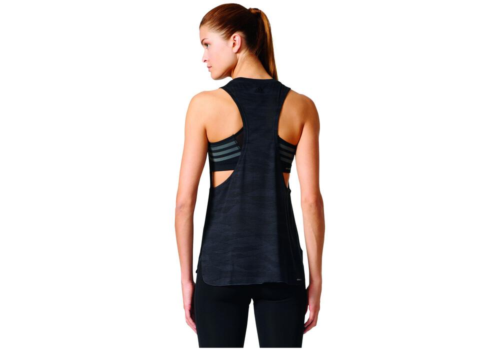 Adidas boxy running shirt sleeveless women black at for Black sleeveless shirt womens
