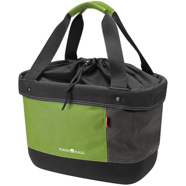KlickFix Shopper Alingo Fahrradtasche grün/braun