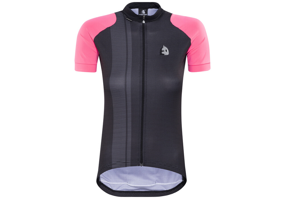 etxeondo maillot m c nere short sleeve jersey women pink. Black Bedroom Furniture Sets. Home Design Ideas