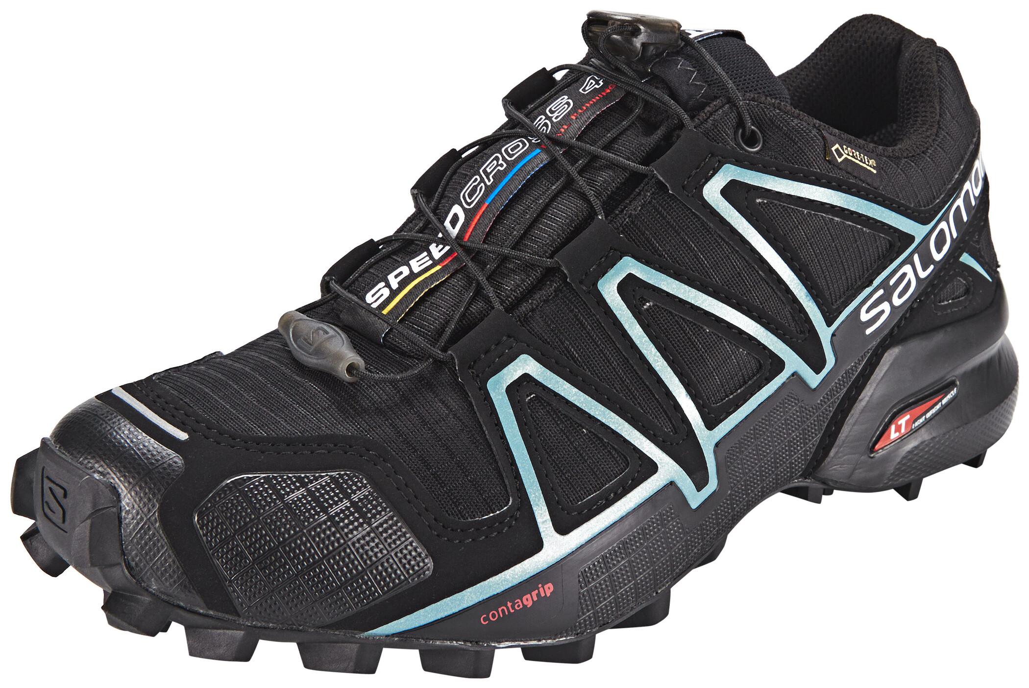 Salomon Speedcross 4 GTX Shoes Dam blackblackmetallic bubble blue