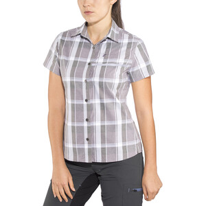 Shimano Transit Check Button Up Kurzarmhemd Damen shark shark