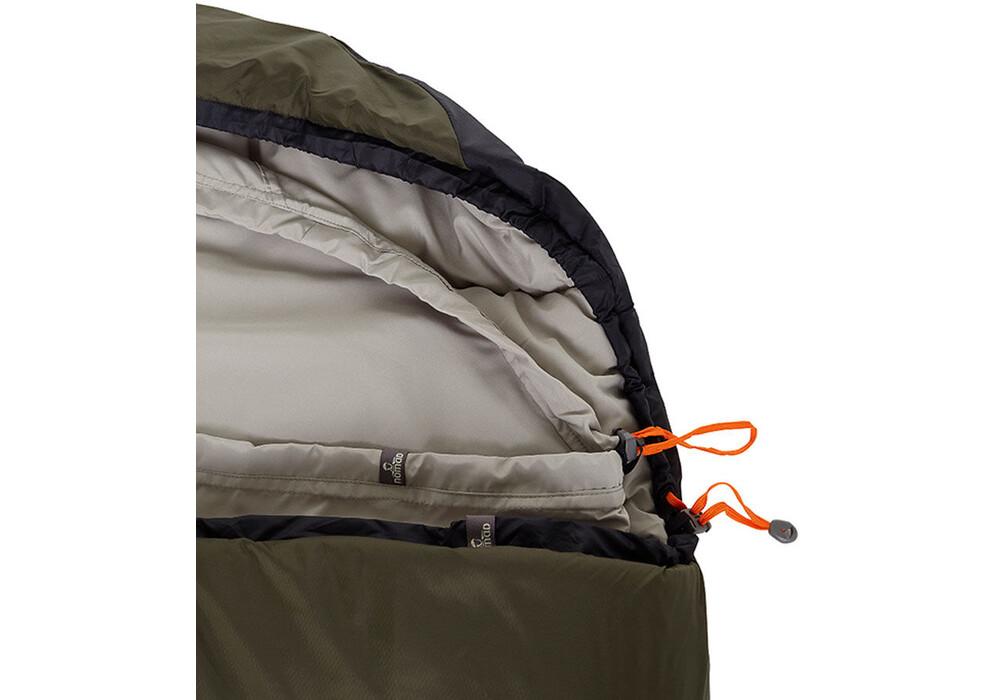 nomad travel compact sac de couchage noir olive sur. Black Bedroom Furniture Sets. Home Design Ideas