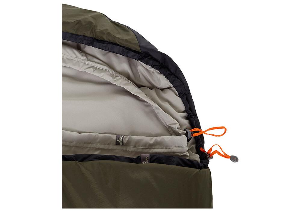 nomad travel compact sac de couchage noir olive. Black Bedroom Furniture Sets. Home Design Ideas