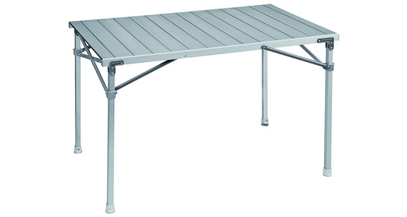 Brunner table roulettes en aluminium titanium quadra sur for Table titanium quadra 6 personnes