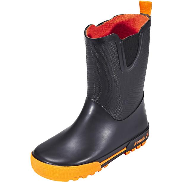 Kamik Rainplay Gummistiefel Kinder black/orange