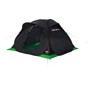 High Peak Hyperdome 3 Teltta, musta/vihreä musta/vihreä