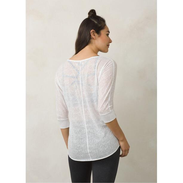 Prana Tranquil T-shirt zippé Femme, blanc