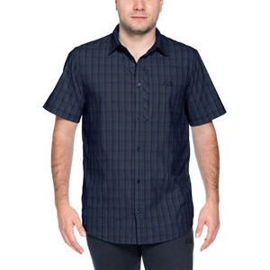 Jack Wolfskin Rays Stretch Vent Shirt Herren night blue checks night blue checks