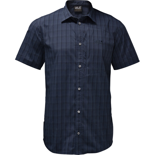 Jack Wolfskin Rays Stretch Vent Shirt Herren night blue checks